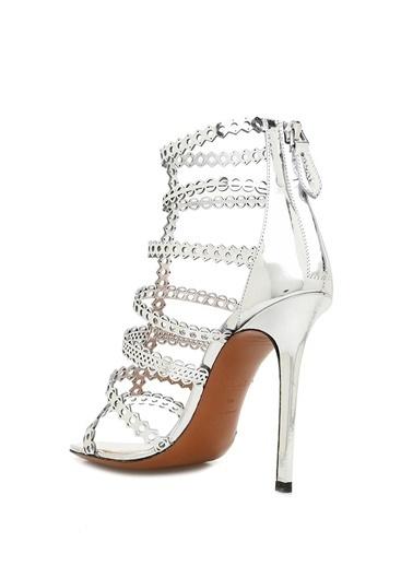 Alaia Sandalet Gümüş